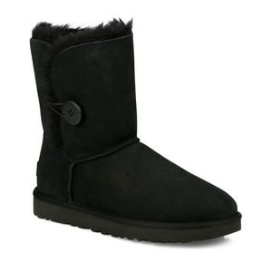 Brand new black Ugg 1 button ankle boots 7